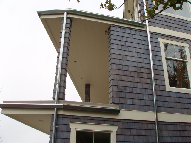 Custom Bent Galvanized41 Gutter Sales Service Cleaning